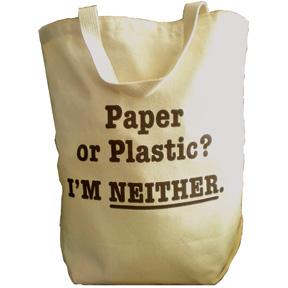 paper or plastic tote