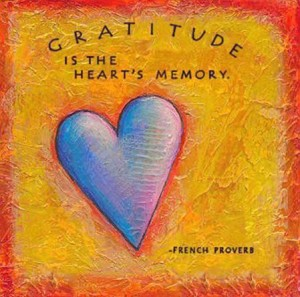 Gratitude is the hearts memory a French proverb1
