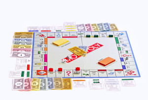 Monopoly board on white bg