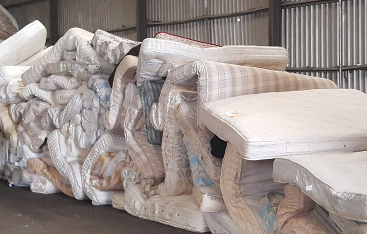 Mattress Recycling in process 1